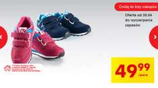 Skórzane dziecięce buty sportowe w cenie 49,99zł @ Biedronka