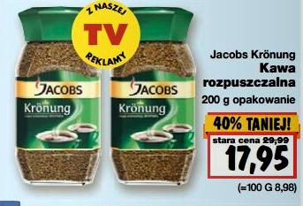 Kawa rozpuszczalna Jacobs Kronung za 17,95zł/200g @ Kaufland