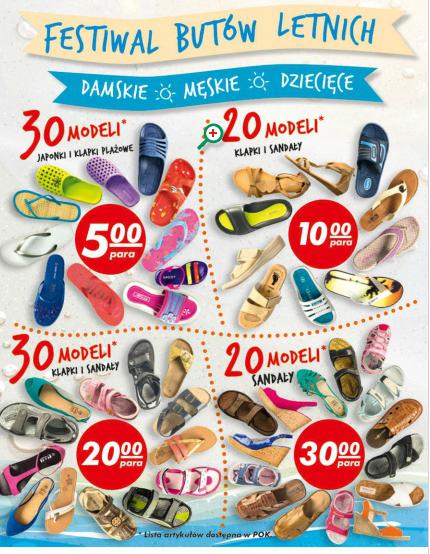 Japonki / klapki plażowe za 5zł i inne modele butów letnich @ Auchan