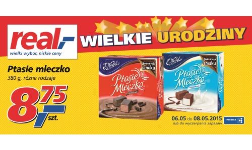 Ptasie Mleczko od Wedla w cenie 8,75zł za 380g @ Real
