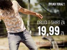 Drugi t-shirt za 19,99zł @ House