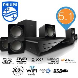 zestaw kina domoweto Philips 5.1 Blu-Ray 3D model HTB3560 za 539,90zł @ iBood