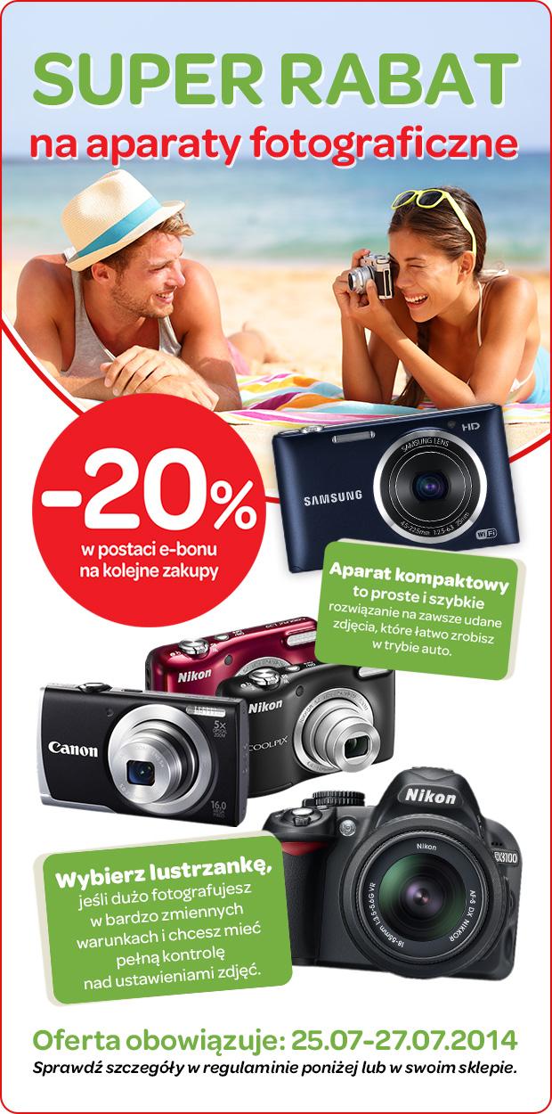 -20% na aparaty fotograficzne (bon na kolejne zakupy) @ Carrefour