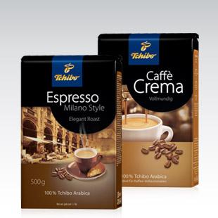 Kawa Tchibo Espresso/Coffe Crema 500g za 19,99zł @ Biedronka