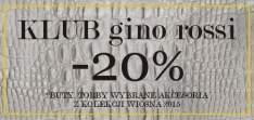 20% rabatu dla klubowiczów @ Gino Rossi