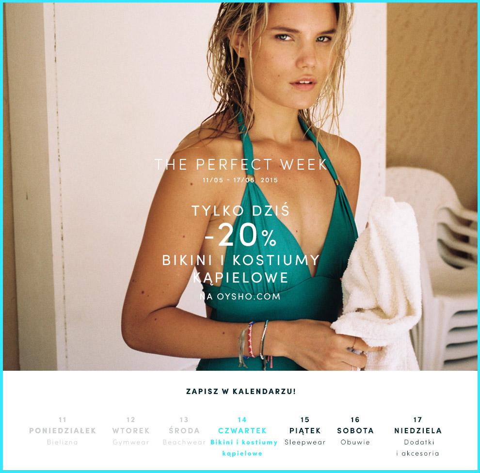Rabat -20% na bikini i kostiumy kąpielowe @ Oysho