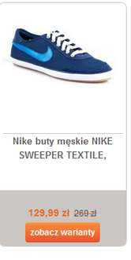 Nike buty męskie NIKE SWEEPER TEXTILE( niebieskie, w 2 rozmiarach) taniej o 140zł @ Merlin