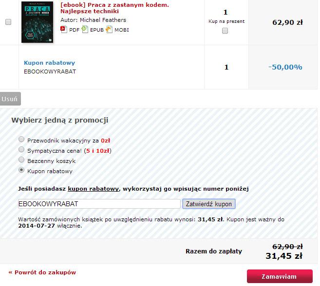 eBooki za 50% ceny @ Helion.pl