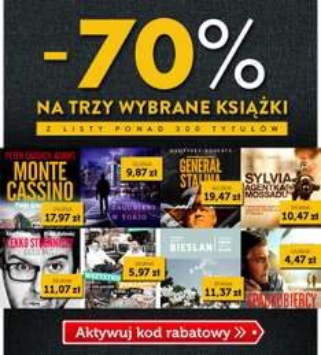 -70% na trzy książki (do wyboru ponad 300 tytułów) @ Znak.com.pl