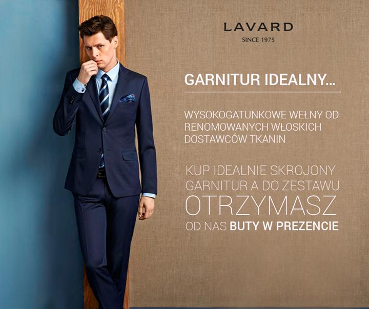 Przy zakupie garnituru buty GRATIS @ Lavard
