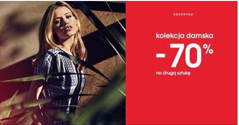 70% rabat na drugą rzecz z damskiej kolekcji @ Reserved