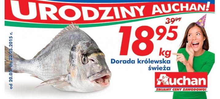 Dorada królewska świeża w cenie 18,95zł/1kg @ Auchan