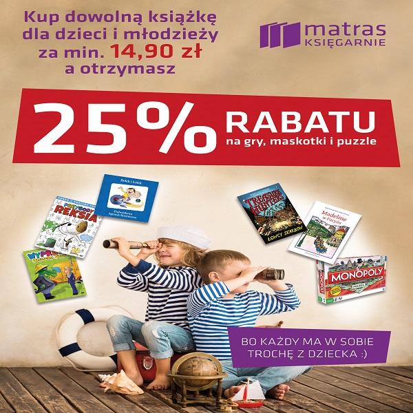 25% rabatu na gry przy zakupie książki za min.14,90zł @ Matras