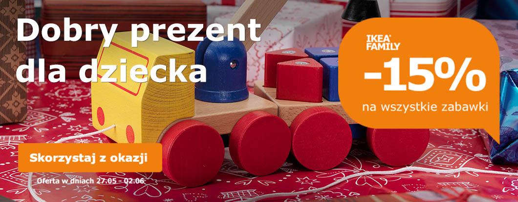 Rabat -15% na zabawki ( z Kartą Ikea Family) @ Ikea