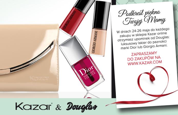 Eskluzywny lakier do paznokci Giorgio Armani lub Dior w PREZENCIE za zakupy produktów marki Kazar @ Kazar&Douglas