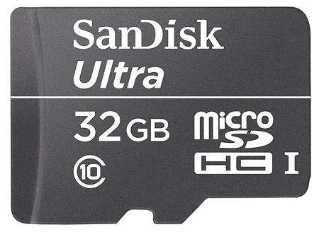 Karta microSDHC (do kamer i smartfonów!) SanDisk Ultra (Class 10) 32GB za 49,99zł@ X-Kom