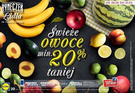 min. -20% na wszystkie świeże owoce @ Lidl