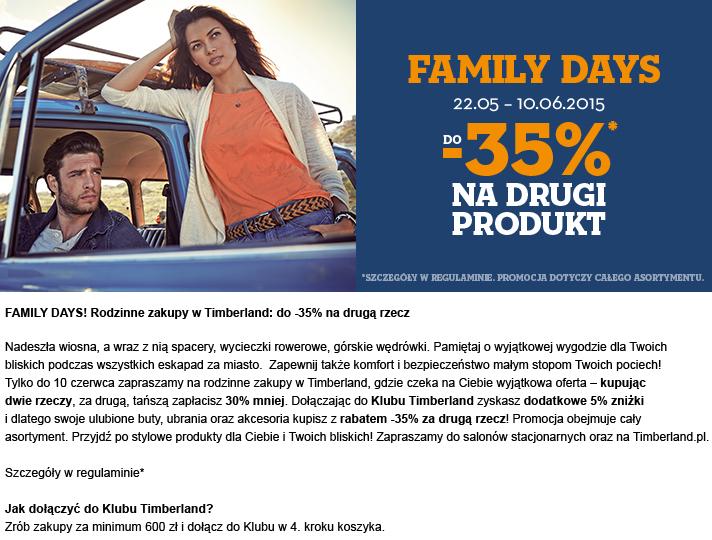 Rabat 30% na każdą drugą rzecz (-35% dla Klubowiczów) @ Timberland