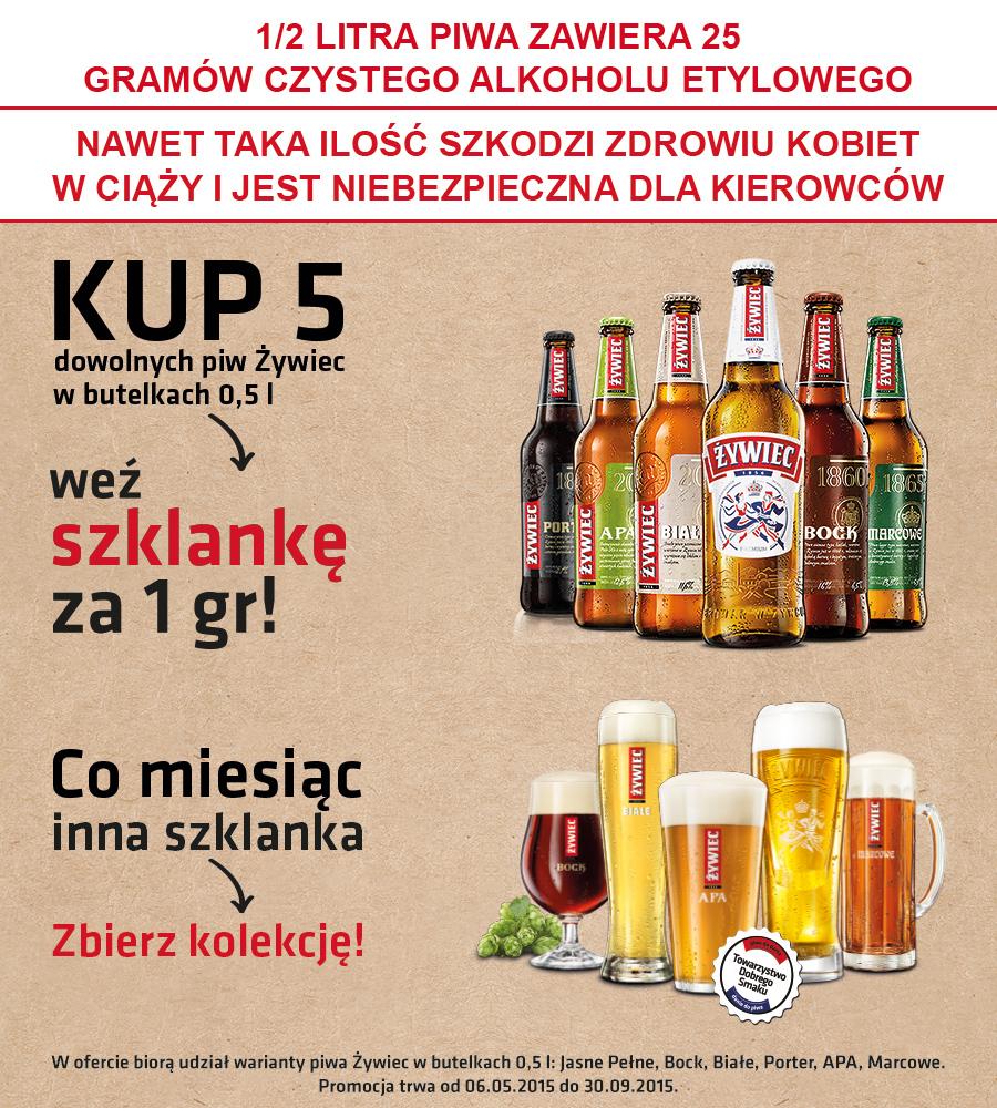 Szklanka za 1 grosz (przy zakupie 5 piw) @ Carrefour