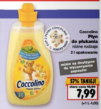 Płyn do płukania tkanin Coccolino 2l w cenie 7,99zł @ Kaufland