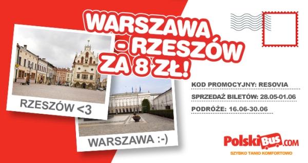 PolskiBus: Warszawa - Rzeszów za 9 zł!