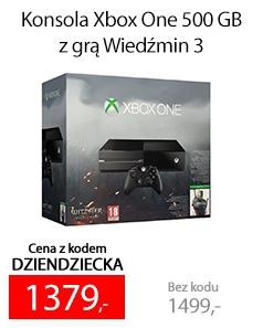 Xbox One z grą Wiedźmin 3 Dziki Gon za 1379zł @ Sferis