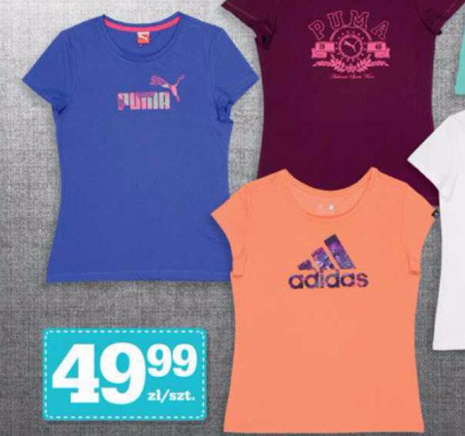 Koszulka damska Puma lub Adidas za 49,99zł @ Biedronka