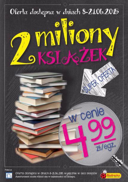 2 miliony książek po 4,99zł/egz. @ Biedronka