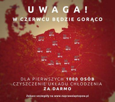 DARMOWE  czyszczenie układu chłodzenia laptopów/komputerów/konsol ZA DARMO @ naprawalaptopow.pl