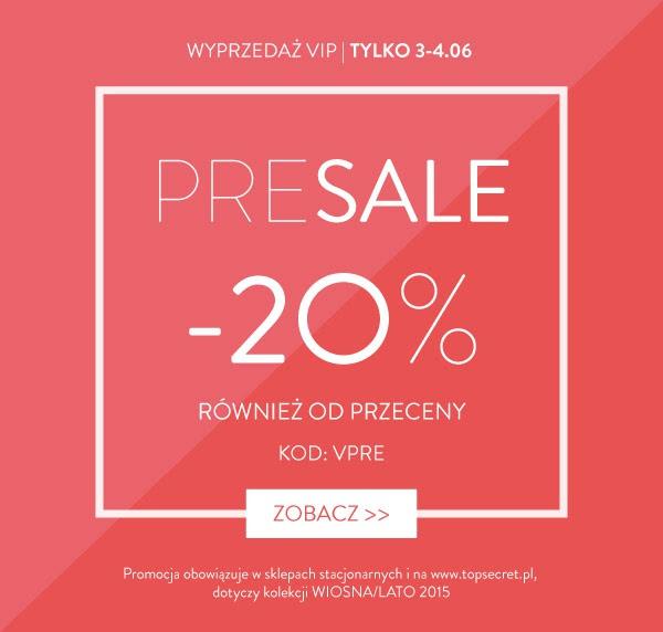 Wyprzedaż Vip -20% @ Top Secret