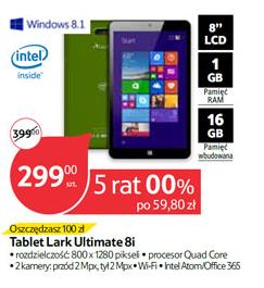 Tablet Lartk Ultimate i8 (8' ekran, 1GB RAM, 16GB, Intel Atom, Windows 8.1, Office 365) za 299zł @ Tesco