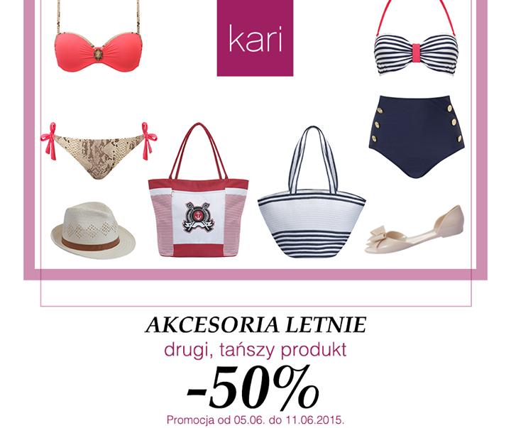 Akcesoria letnie - 50% zniżki na drugi produkt @ Kari
