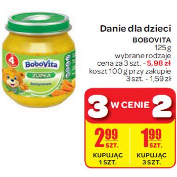 Danie dla dzieci Bobovita 125g, 3 w cenie 2 @ Carrefour