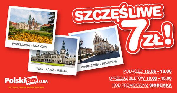 Podróż za 7 zł @ PolskiBus