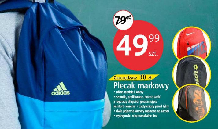 Markowy plecak (Adidas, Nike, Puma, Lotto) za 49,99 zł @ Tesco