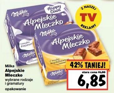 Milka Alpejskie Mleczko 42% taniej (za 6,85zł) @ Kaufland
