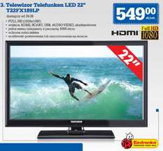 "TV TELEFUNKEN T22FX189LP (Full HD, LED, 22"") za 549 @ Biedronka"