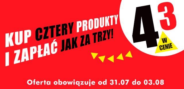 Cztery produkty w cenie trzech @ Biedronka