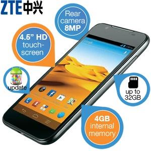 Smartfon ZTE Grand X Pro (4,5' wyświetlacz HD, 1GB RAM, aparat 8MP) za 444,9zł @ iBood