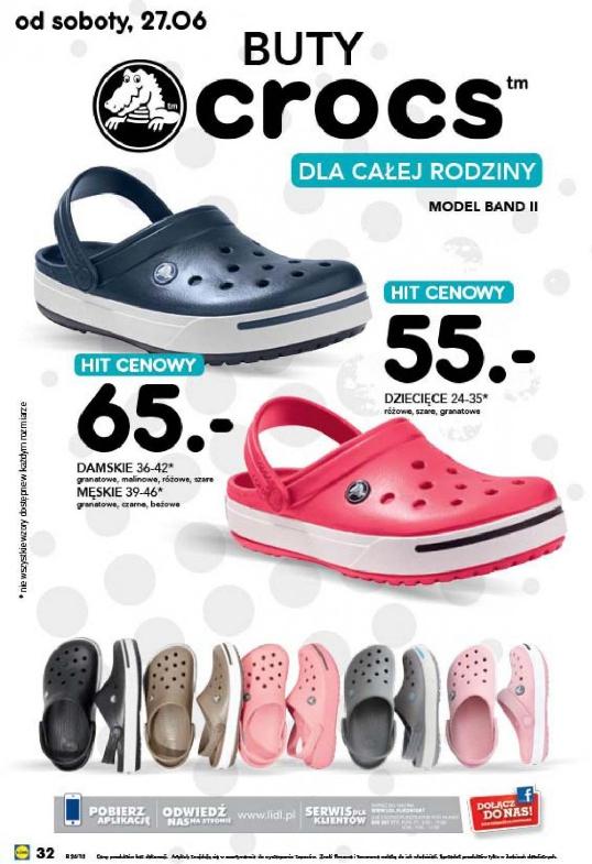 Buty CROCS za 55zł oraz 65zł @ Lidl