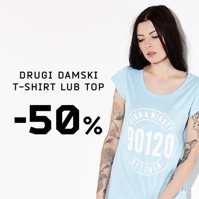 Drugi t-shirt lub top z kolekcji damskiej taniej o 50% @ Cropp