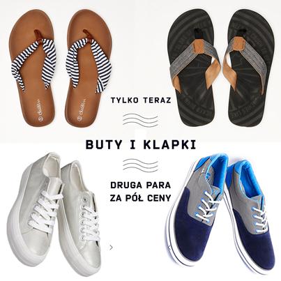 Druga para butów lub klapki za 50% ceny @ Cropp