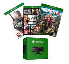 Xbox One + The Witcher 3 + Far Cry 4 + GTA V za ok. 1665zł  @ Amazon.fr