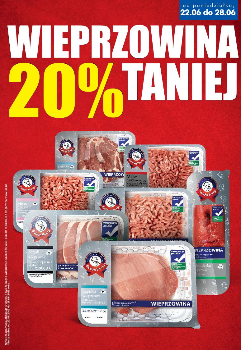 Mięso wieprzowe taniej o 20% @ Lidl
