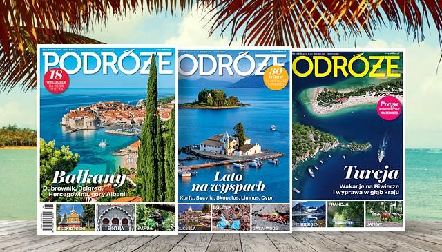 """6 miesięczna Prenumerata Miesięcznika """"Podróże"""" za 30zł (50% taniej) @ MyDeal"""