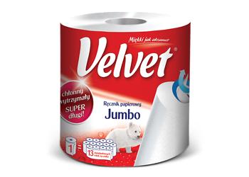 Ręcznik papierowy Velvet Jumbo 9,95zł (taniej o 8zł) @ Kaufland