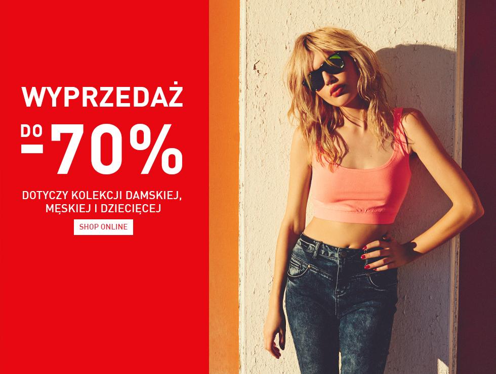 Wyprzedaż z rabatami sięgającymi 70% (męskie jeansy taniej o 70zł) @ Reserved