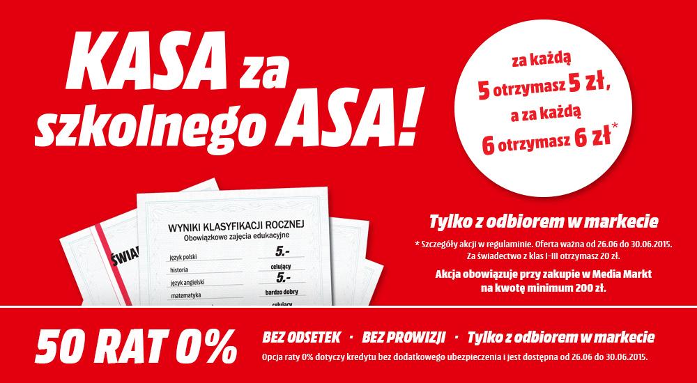 """Kasa za szkolnego asa""! Zniżki na zakupy za dobre oceny @ Media Markt"