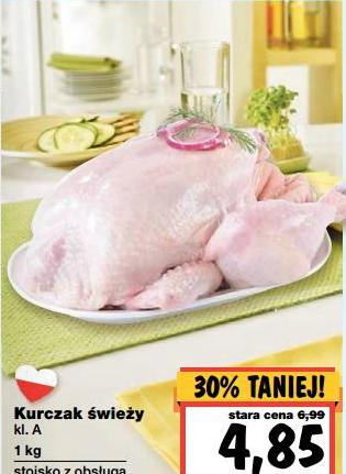 Świeży kurczak w cenie 4,85zł za 1kg @ Kaufland