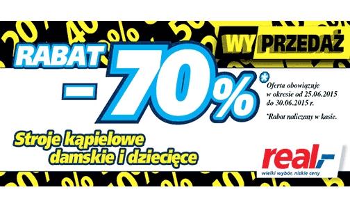 Produkty letnie taniej o 70% @ Real